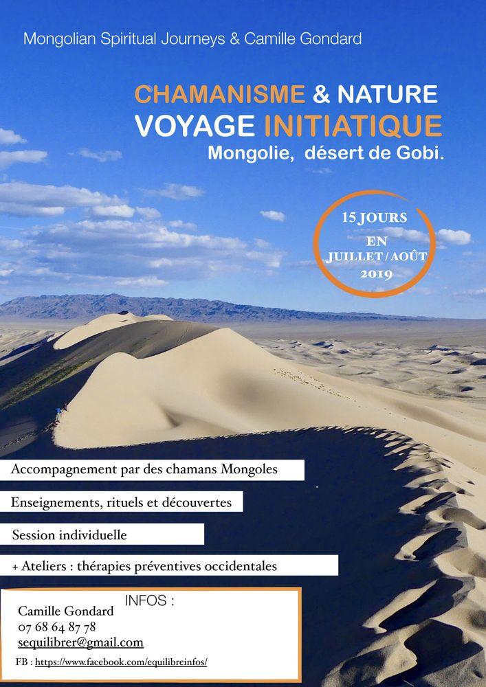 Chamanisme et nature, voyage initiatique mongilie 2019 desert de gobi
